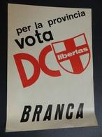 2.3) ELEZIONI DEMOCRAZIA CRISTIANA GENOVA PROVINCIA VOTA ATTILIO BRANCA 1970 CIRCA - Partiti Politici & Elezioni