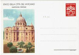 FAL7- CITE DU VATICAN - SERIE DE 1949 4 CARTES POSTALES NEUVES II° TIRAGE (1ère LIGNE ADRESSE 70mm) COTE EUR 1.140.00 - Postal Stationeries
