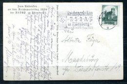 4618 - DEUTSCHES REICH - Postkarte Reichsparteitag 1934 Mit Pass. Stermpel - Deutschland