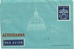 """FAL7- CITE DU VATICAN - AEROGRAMME 55L AVEC LIGNES ADRESSE ET """"1/2/3 LEMBO DA PIEGARE"""" NEUF - Postal Stationeries"""