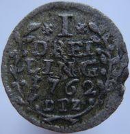 Germany Lubeck 1 Dreiling 1762 DPZ VF Scarce - Silver - [ 1] …-1871 : Etats Allemands