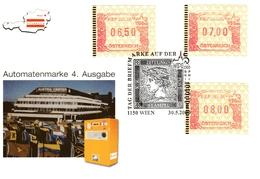 WIPA 2000; Automatenmarken, FDC 30.5.2000, Rosa Farbe - FDC