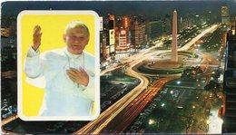 BUENOS AIRES - SU SANTIDAD JUAN PABLO II - AVENIDA 9 DE JULIO. ARGENTINA POSTALE CPA CIRCA 1990's NON CIRCULÉ - LILHU - Argentina