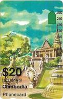 Cambodia - Telstra - Anritsu - Old Palace (I951814a), 20$, 1995, 110.000ex, Used - Cambodia