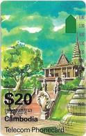 Cambodia - Telstra - Anritsu - Old Palace (ICM3-1), 20$, 1995, 20.000ex, Used - Cambodia