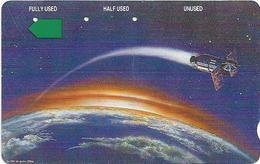 Cambodia - Telstra - Anritsu - Satellite (With Barcode, Small $), 5$, 1993, 30.000ex, Used - Kambodscha