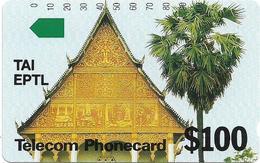 Cambodia - Telstra - Anritsu - Temple - 100$, 1992, 10.000ex, Mint - Cambodia