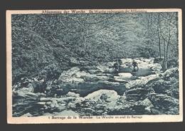Barrage De La Warche - La Warche En Aval Du Barrage - 1935 - Couleur Bleu - Waimes - Weismes