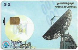 Cambodia - Telecom Cambodia - Satellite, 2$, 2002, Used - Cambodia