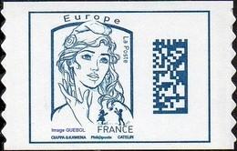 France Marianne De Ciappa Et Kawena Autoadhésif N° 1216,** Datamatrix - Europe Sans Indication De Poids - 2013-... Marianne De Ciappa-Kawena