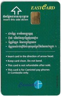 Cambodia - Camitel - Easycard Green 3$, Type 1 (Chip Uniqa UN01) Used - Cambodia