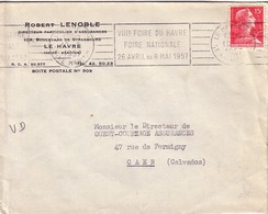 MULLER - SEINE MARITIME - LE HAVRE -VIIIe FOIRE DU HAVRE FOIRE NATIONALE 28 AVRIL AU 8 MAI 1957. - Annullamenti Meccanici (pubblicitari)
