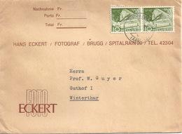 """Motiv Brief  """"Foto Eckert, Brugg""""           1959 - Suisse"""