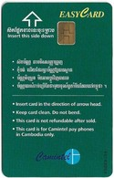 Cambodia - Camitel - Easycard Green 3$, Type 2 (Chip Orga OR04) Mint No Blister - Cambodia