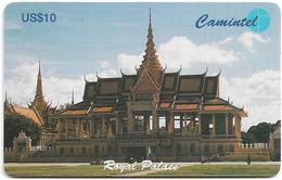 Cambodia - Camitel - Royal Palace, 10$, Used - Cambodia