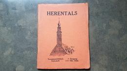 Boekje Herentals Tijdschrift 1e Jaargang Okt 1934 Nr 2 (Servaas Daems Stadhuis ) - Herentals