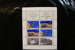Romania C181-82 Luna 16 Lunokhod 1 With Label Folded At Perfs Mini Sheet MNH 1970 A04s - Blocs-feuillets