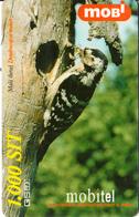 SLOVENIA - Bird, Dendrocopos Minor, Mobitel Prepaid Card 1000 Sit, CN : 002925086, Exp.date 31/12/01, Used - Eslovenia