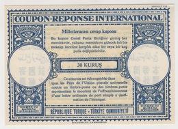 TURQUIE,TURKEI TURKEY, COUPON -REPONSE INTERNATIONAL - Interi Postali