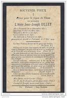 FRAMONT ..-- ABBé GILLET . Né En 1821 . Curé à BIEVRE En 1847 . Décédé à PALISEUL En 1904 . - Images Religieuses