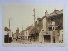 CP (56) Morbihan - BILLIERS - La Rue Du Penher - France