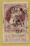 MW-3287   *  SOUMAGNE    *  OCB 77    Sterstempel   COBA   + 20 - 1905 Barbas Largas