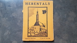 Boekje Herentals Tijdschrift 2e Jaargang Mei 1935 Nr 2 ( Rubens Gierle Kwezelken ) - Herentals