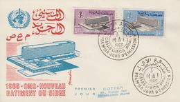 Enveloppe  FDC  1er  Jour    MAROC   Siége  De  L' Organisation  Mondiale  De  La  Santé   1966 - Maroc (1956-...)
