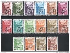 MONACO 1976 / 1978 - SERIE Du N° 38 A 53  - 16 PREO.  NEUFS** - Monaco