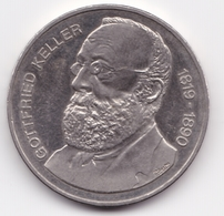 Switzerland 5 Francs, 1990 100th Anniversary - Death Of Gottfried Keller - Switzerland