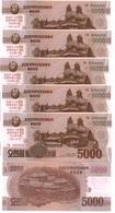 Korea North - 5 Pcs X 5000 Won 2017 UNC SPECIMEN 0000000 Comm. Lemberg-Zp - Korea, North
