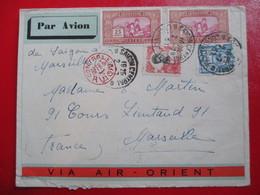 INDOCHINE- Divers Sur Lettre Par Avion Via Air-Orient - Cachet Rouge De Contrôle - 1931 - Indochina (1889-1945)