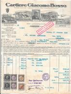 TORINO -VIA CIBRARIO 6 -  CARTIERE GIACOMO BOSSO TORINO PER CARMAGNOLA - 1935 - Italy