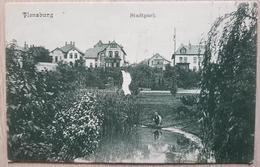 Germany Flenburg 1909 Stadtpark Failure On The Postcard - Non Classificati