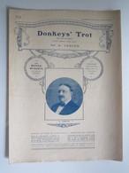 PARTITION DONKEYS' TROT (Le Trot Des Ânes) NEW DANCE, ONE STEP LEDUCQ  23,5 X 31,5 Cm Env - Musique & Instruments
