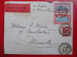 INDOCHINE- Divers Sur Lettre Par Avion  - De Saïgon à Marseille - 1931 - TBE - Indochina (1889-1945)