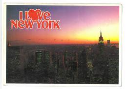 U.S.A. Stati Uniti D'America I Love New York Empire State Building And Skyline At Dusk. New York City Viaggiata 1986 Con - Empire State Building