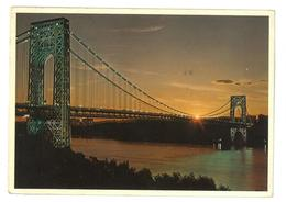 U.S.A. Stati Uniti D'America George Washington Bridge New Jersey To Manhattan Island Viaggiata 1985 Condizioni Come Da S - Stati Uniti