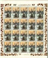 Luxembourg Feuille De 20 Timbres à 0,50 + 0,05 Euro Chevreuil, Reh, Roe Timbre De Bienfaisance 2003 - Full Sheets