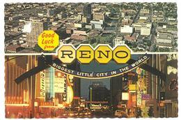 U.S.A. Stati Uniti D'America Good Luck From Reno Nevada Biggest Little City In The World Viaggiata 1976 Condizioni Come - Reno