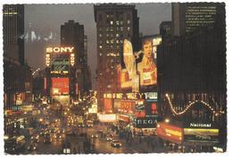 U.S.A. Stati Uniti D'America Times Square At Night New York City Viaggiata 1976 Condizioni Come Da Scansione - Time Square