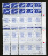 "3 CD 10xN°1963**_5° Et Dernier Tirage_les 3 Feuilles Du Cylindre ""A""_TD.3-12 - Dated Corners"