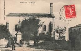 30 Fontanès Le Temple Cpa Animée - France