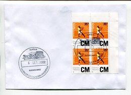 CM, CLIENTES MEDIOS. TENIS TENNIS. ARGENTINA 2002 SOBRE DIA DE CIRCULACIÓN ENVELOPE FDC - LILHU - Tennis