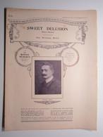 PARTITION SWEET DELUSION (Douce Illusion) VALSE BOSTON William BILL 23,5 X 31,5 Cm Env - Musique & Instruments