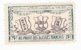 Vignette Militaire Delandre - Croix Rouge - Montreux - Commemorative Labels