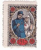 Vignette Militaire Delandre - Croix Rouge - Bogota - Commemorative Labels