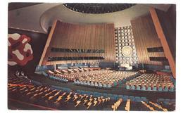 U.S.A. Stati Uniti D'America United Nations New York A View Of The General Assembly Hall Non Viaggiata Condizioni Come D - Stati Uniti