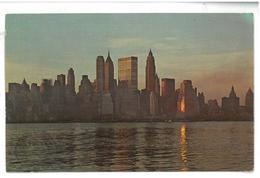 U.S.A. Stati Uniti D'America View Of Lower Manhattan Viaggiata 1971 Condizioni Come Da Scansione - Viste Panoramiche, Panorama