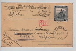 PR6188/ TP 265 S/CP Avion C.Léo 1945 Censure V.Beaumont C.D'arrivée Via BXL - Congo Belge